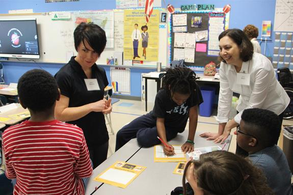 Sadler Elementary students learn the importance of money management during Junior Achievement Day