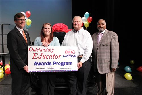 Pinewood Elementary teacher Kim Costner was the 2016 Kia Outstanding Educator Award Winner
