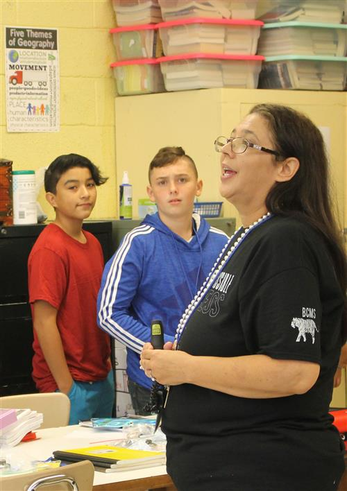 Bessemer City Middle teacher Deanna Morrison