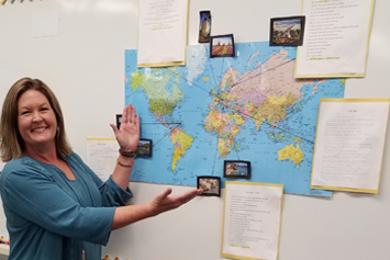 W.C. Friday teacher is ready to travel and learn