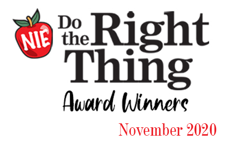 'Do the Right Thing' award winners for November