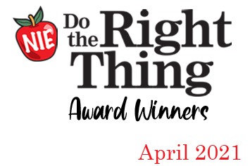 'Do the Right Thing' award winners for April