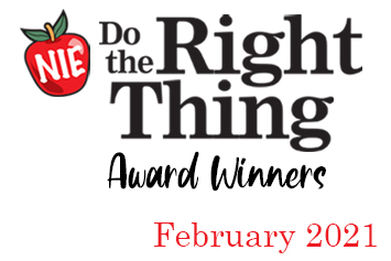 'Do the Right Thing' award winners for February