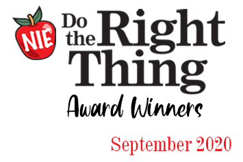 'Do the Right Thing' award winners for September
