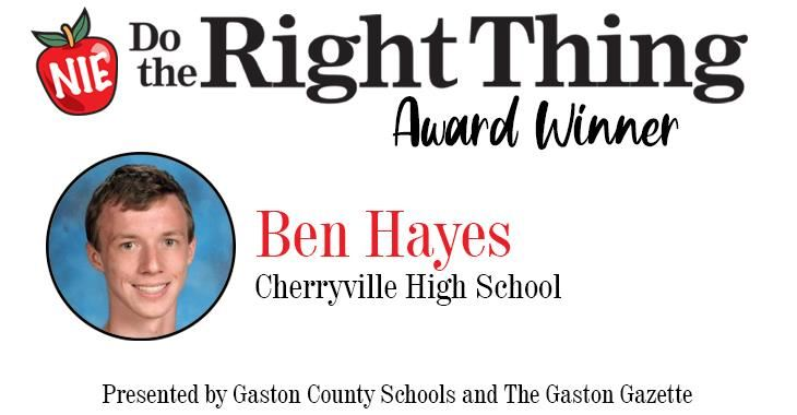 Ben Hayes, Do The Right Thing Award Winner