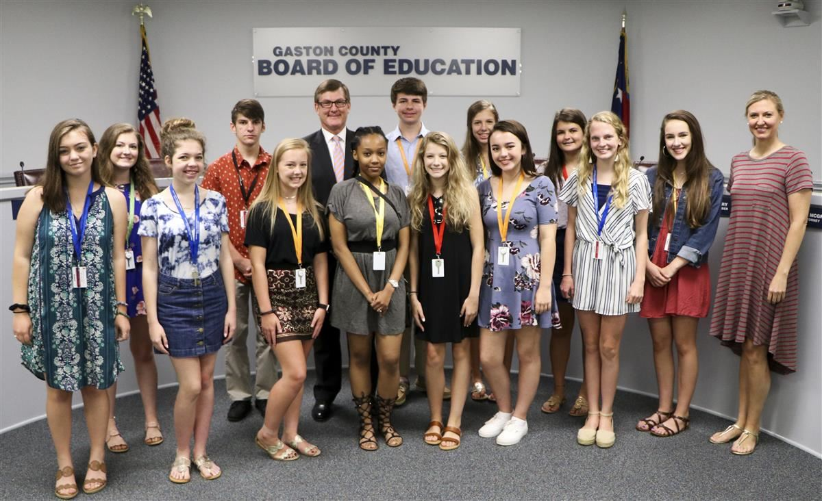 Commissioners School of Excellence students met with Superintendent W. Jeffrey Booker during the program last summer.