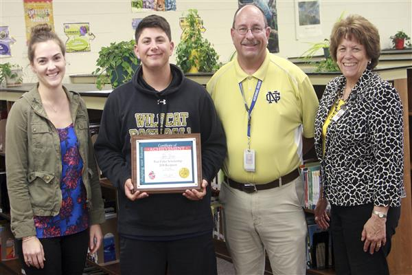 Tyler Zonin is the recepient of the Paul Fuller scholarship