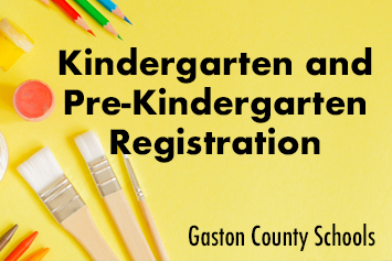 Gaston County Schools holds online registration for Kindergarten and Pre-Kindergarten