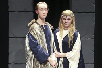 Students on stage in theater productions