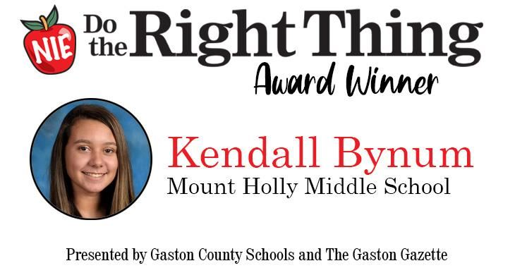 Kendall Bynum, Mount Holly Middle