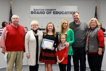 Board of Education recognition for December