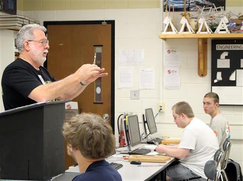 North Gaston teacher Woody Cox