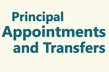 Principal appointments and transfers for 2018-2019