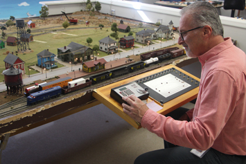 Students use engineering to build model railroad