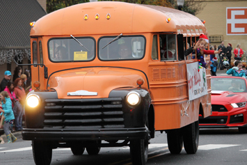 Look for our classic bus in parades
