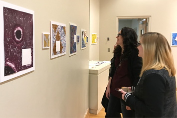 Art exhibit highlights students' collaboration