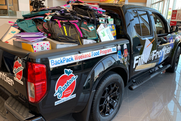 Gastonia Nissan fills two Frontiers with supplies