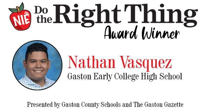 Nathan Vasquez, Gaston Early College