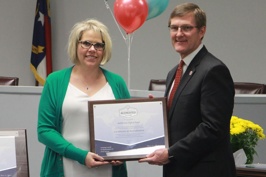 Ashbrook earns accreditation as a quality school