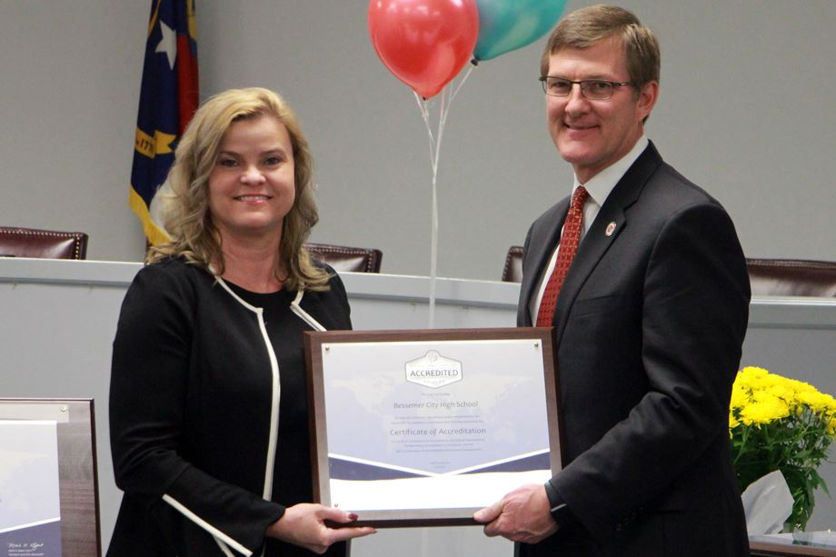 Bessemer City High earns accreditation as a quality school
