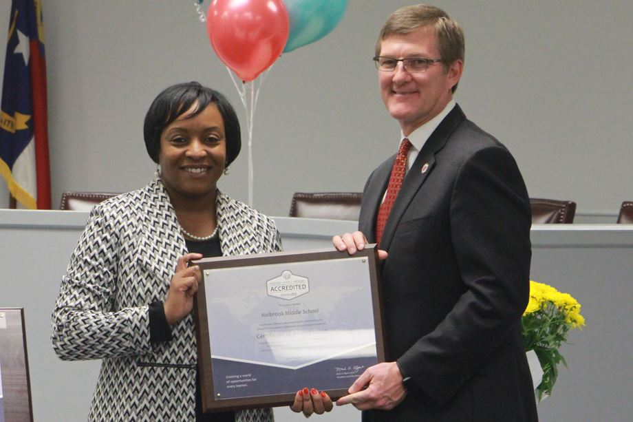 Holbrook Middle earns accreditation as a quality school