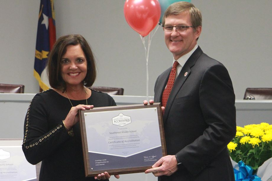 Southwest Middle School earns accreditation as a quality school
