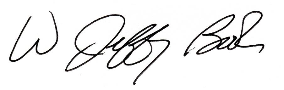 Superintendent W. Jeffrey Booker signature