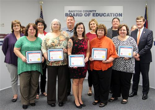 The Board of Education recognized members of the Advisory Board for Children with Disabilities (ABCD) group.