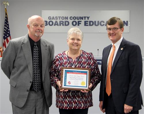 The Board of Education recognized Rankin Lake Baptist Church for hosting a back-to-school breakfast for schools.