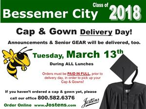 Cap & Gown Delivery Information